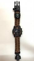 Часы тактические коричневый паракордовый браслет