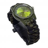Часы в камуфляжном корпусе с паракордовым браслетом