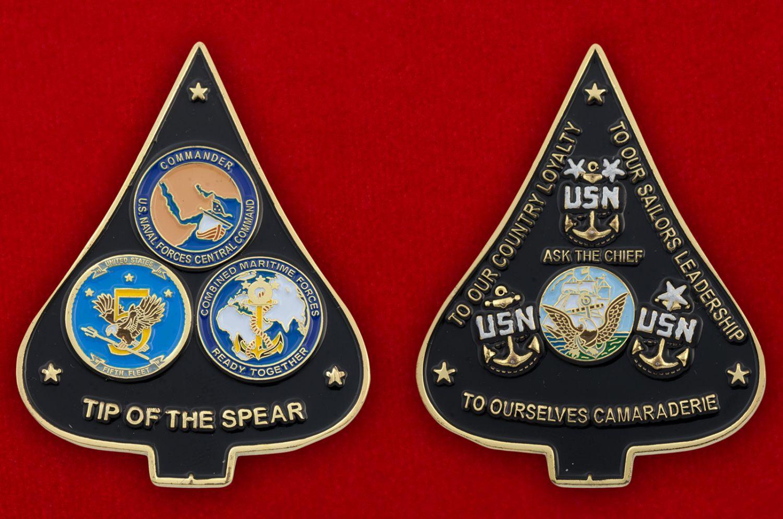 Челлендж коин Военно-морских сил США - аверс и реверс