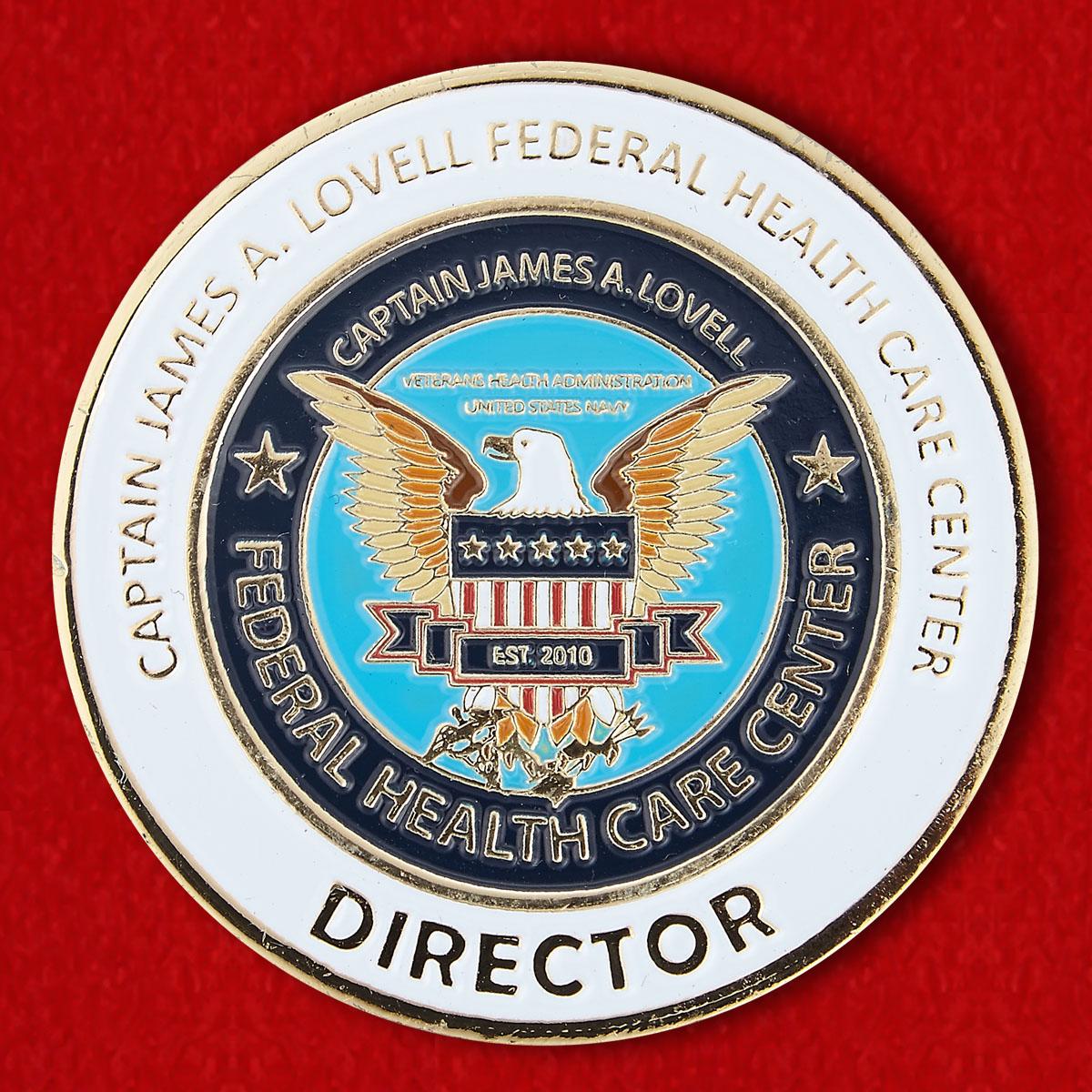 Челледж коин Федерального Центра Здравоохранения имени капитана Джеймса А. Ловелла