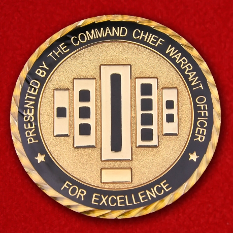For Excellence presented the command chief warrant officer Kentucki Army National Guard Challenge Coin