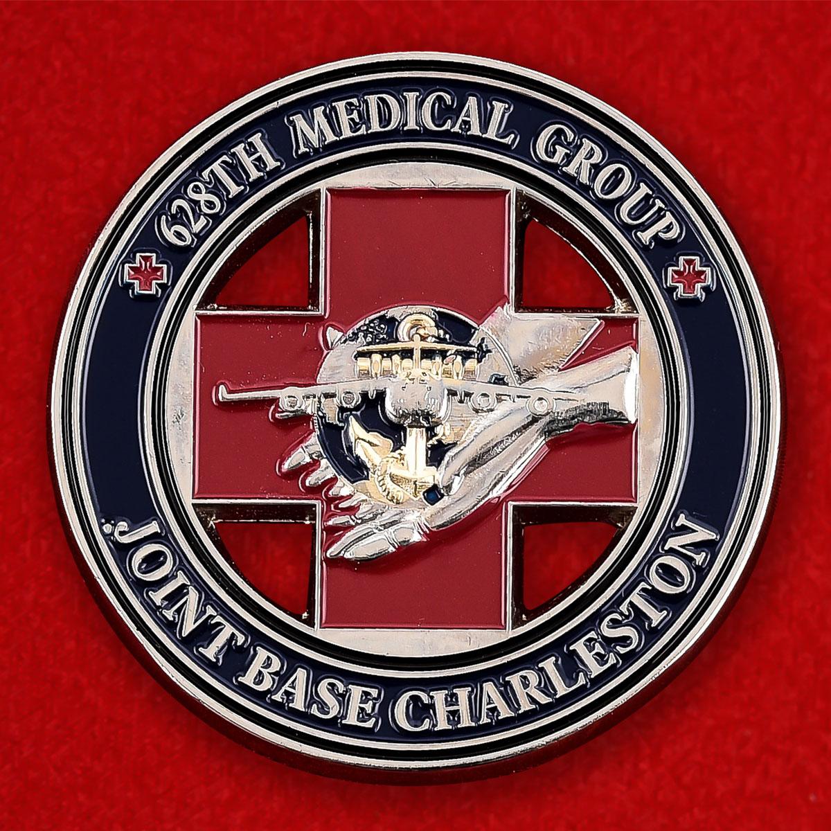 """Челленддж коин """"От командира 628 й Медицинской группы военной базы Чарльстон"""""""