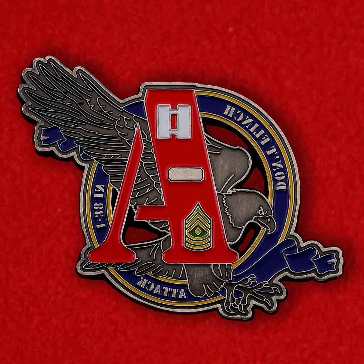Челлендж коин 1-го батальона 38-го пехотного полка армии США