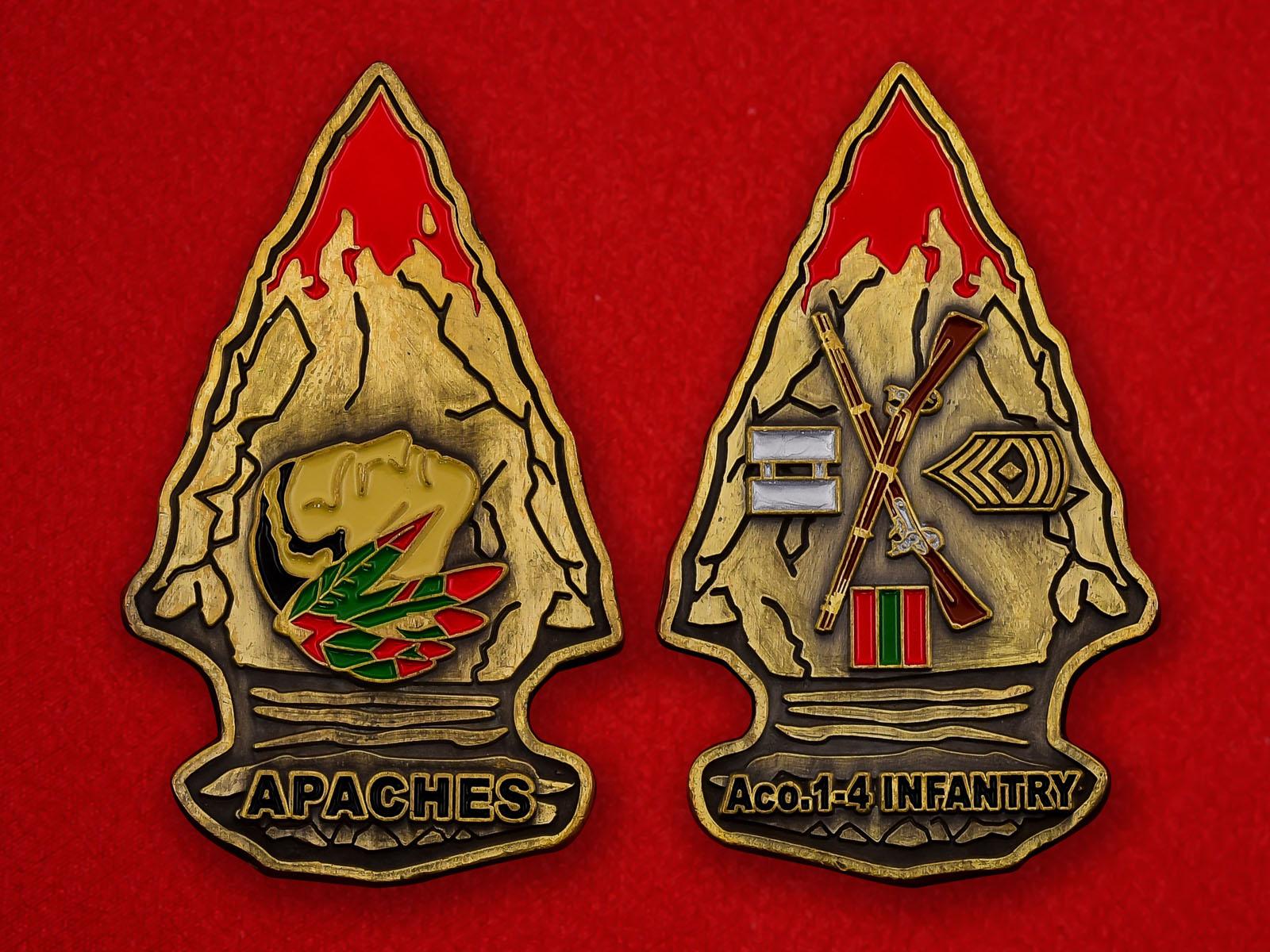 Челлендж коин 1-го батальона 4-го Пехотного полка