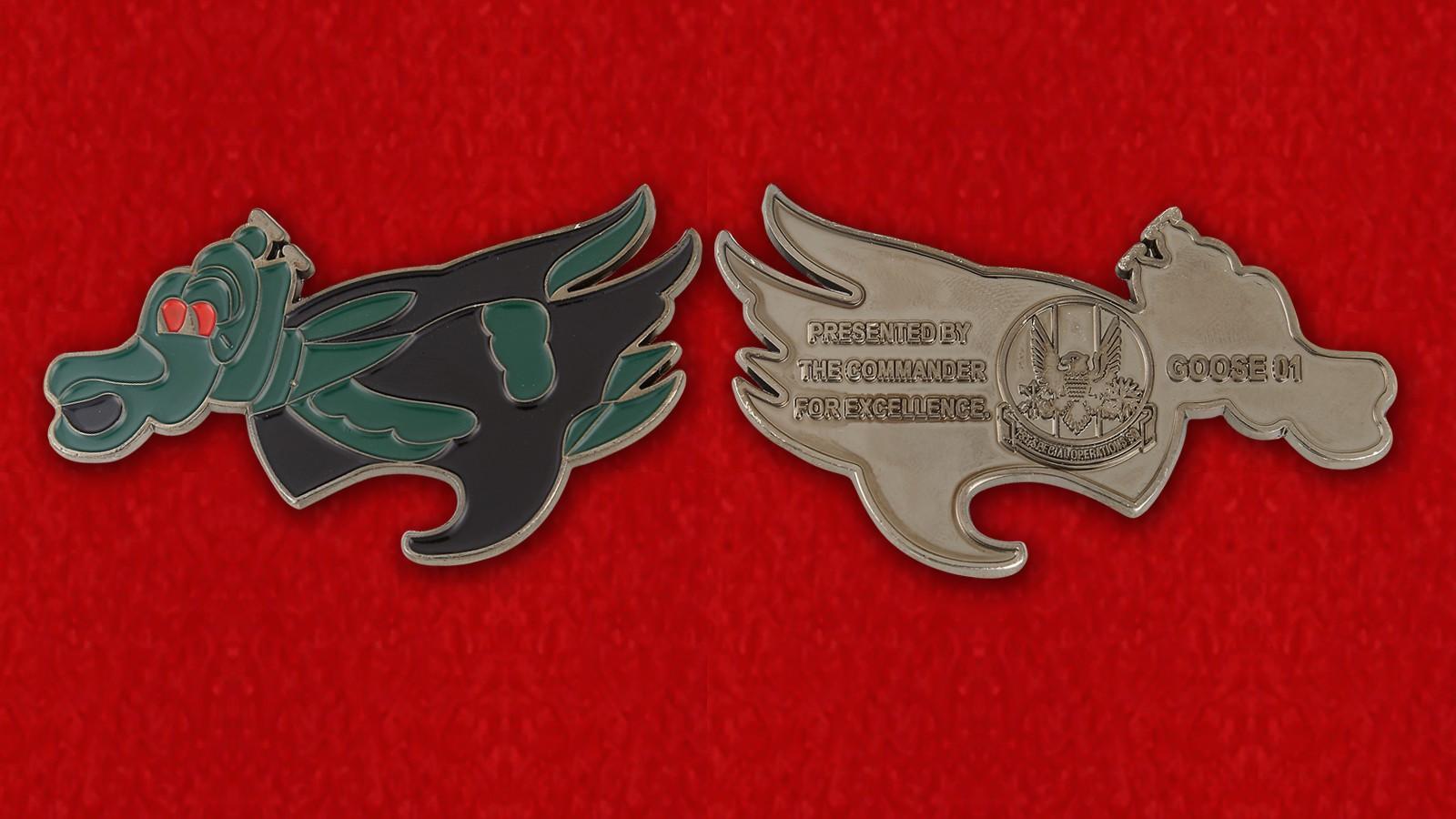 Челлендж коин 1-й эскадрильи обеспечения войск специального назначения командования спецопераций ВВС США