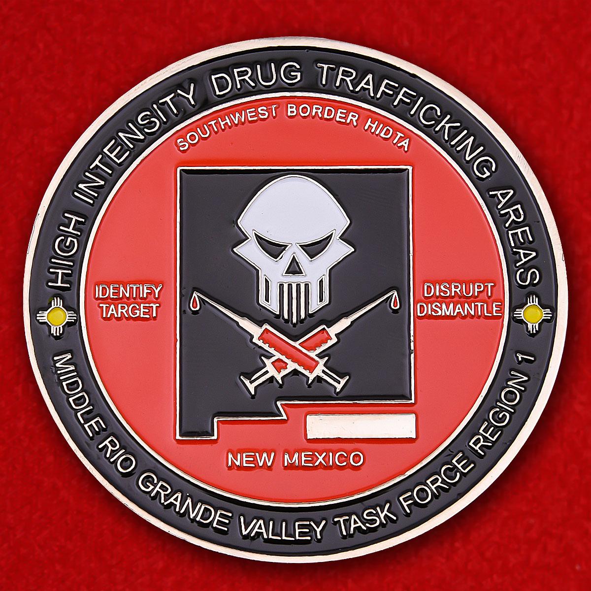 "Челлендж коин ""1-й район оперативной группы Рио-Гранде Управления по борьбе с наркотиками Министерства юстиции США"