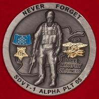 """Челлендж коин 1-го отряда по доставке пловцов спецназа ВМС США в память о погибших в операции """"Красные крылья"""""""