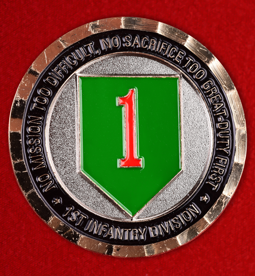 "Челлендж коин ""1-я пехотная дивизия армии США"""