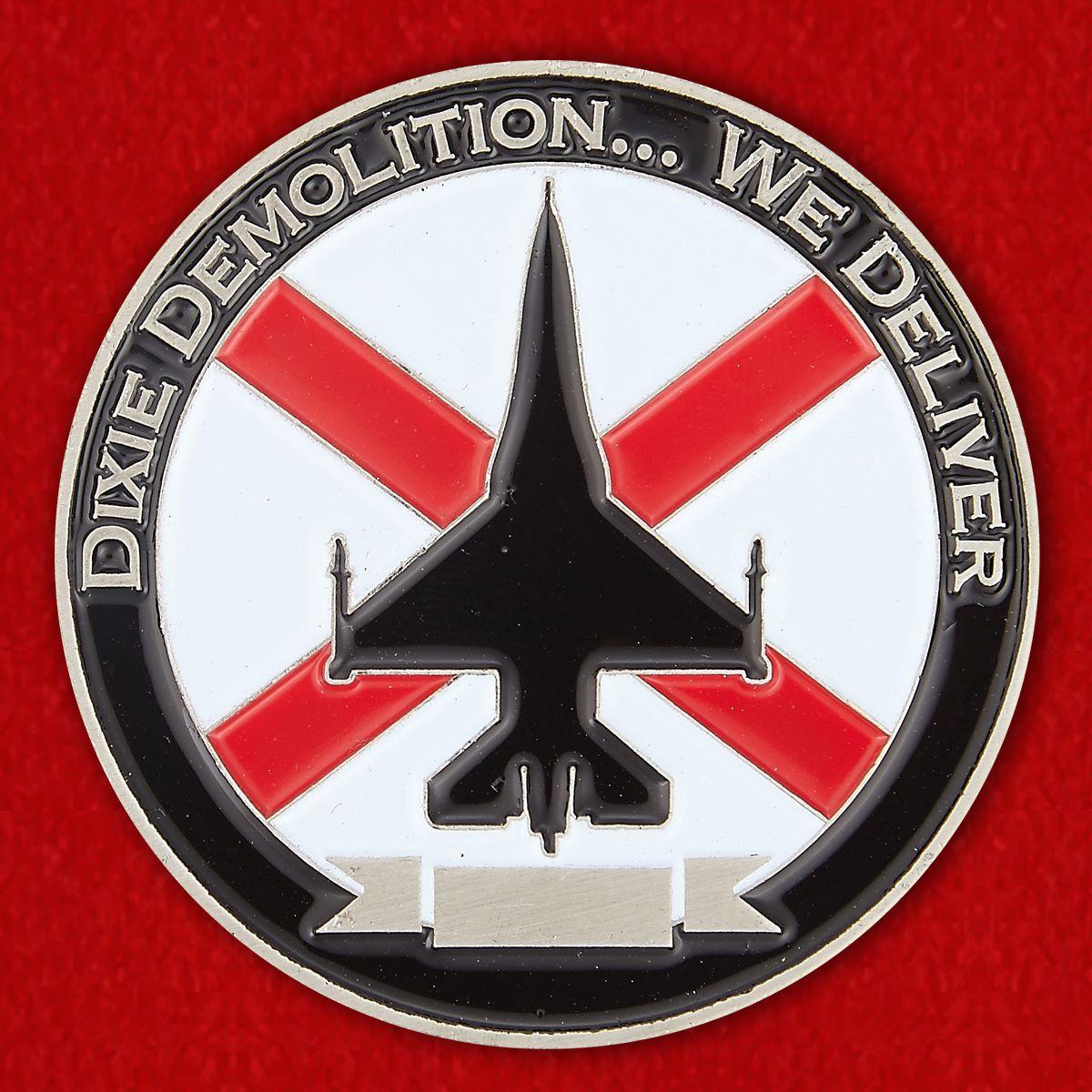 Челлендж коин 100-й Истребительной эскадрильи ВВС Национальной гвардии