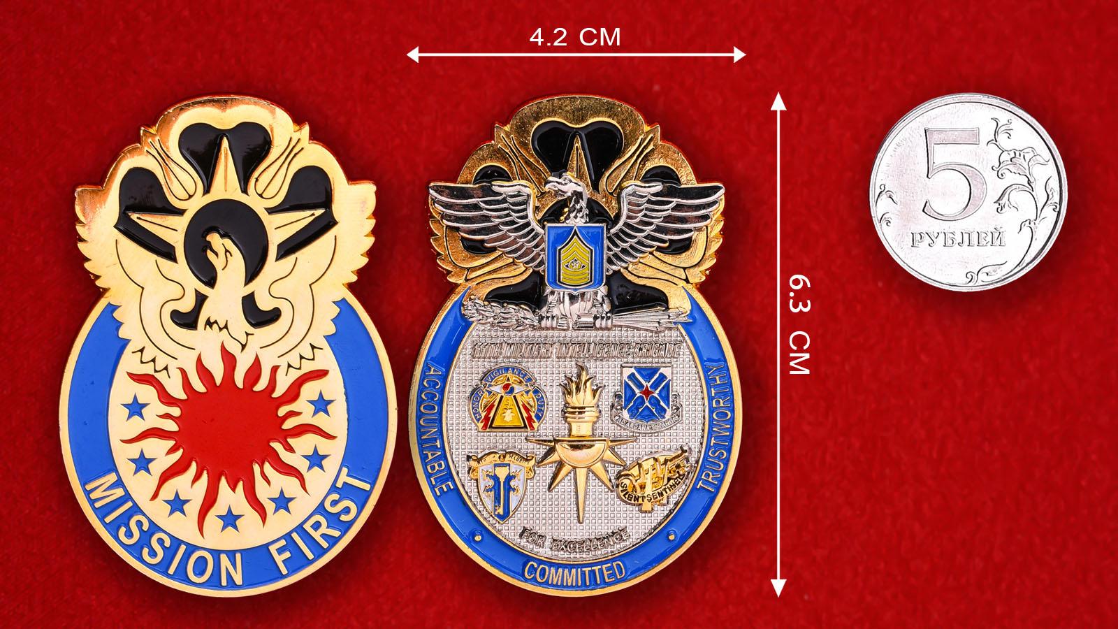 Челлендж коин 111-й бригады Военной разведки Армии США