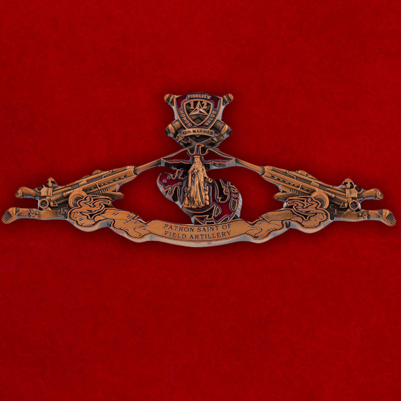 Челлендж коин 12-го Артиллерийского полка Корпуса Морской пехоты США