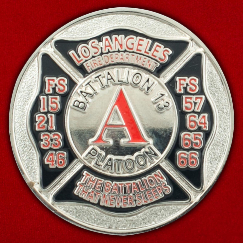Челлендж коин 13-го батальона Пожарной охраны Лос-Анджелеса