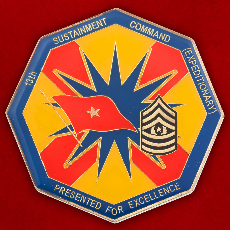 Челлендж коин 13-й Экспедиционной роты материально-технического обеспечения Армии США