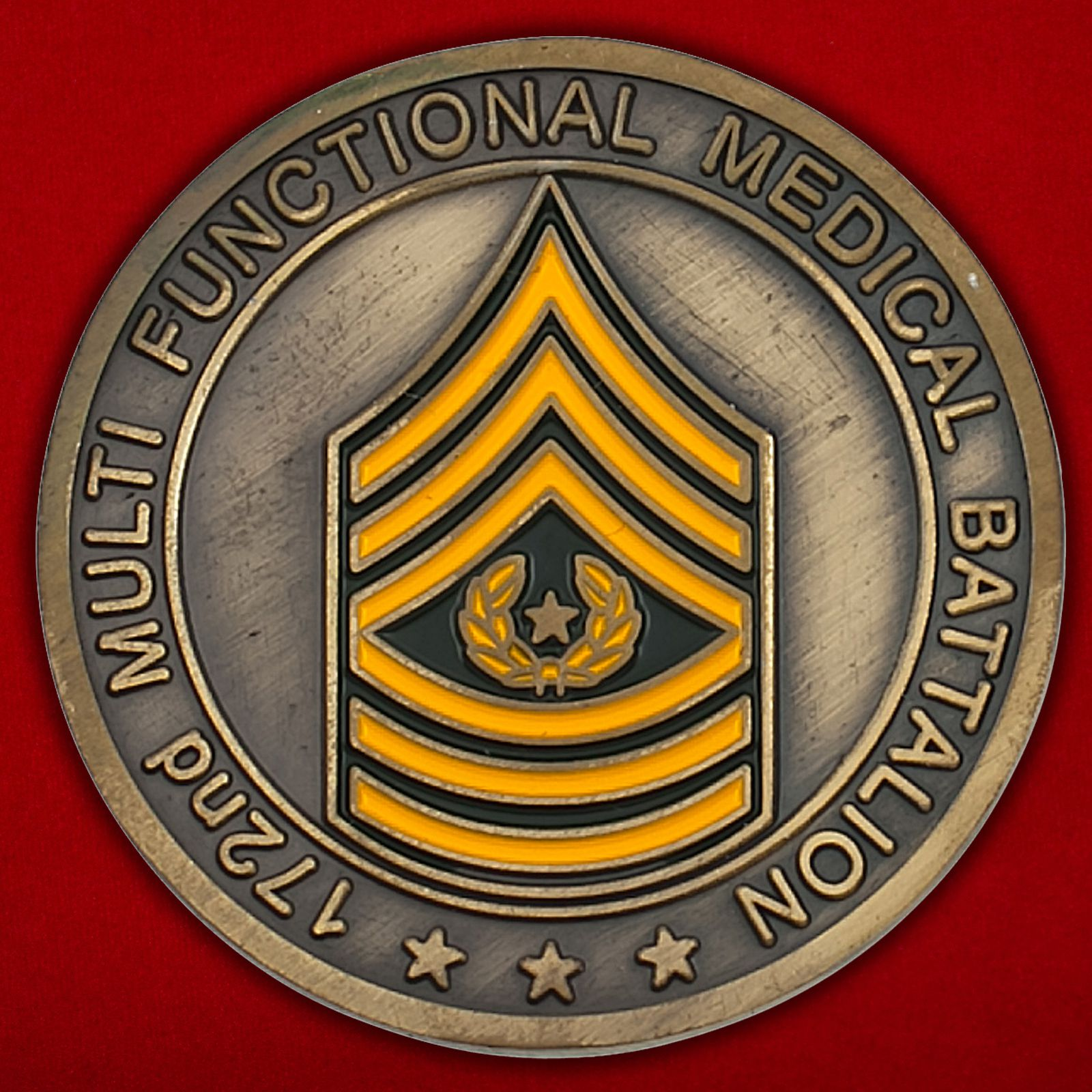 "Челлендж коин ""172-му медицинскому батальону от командования"""