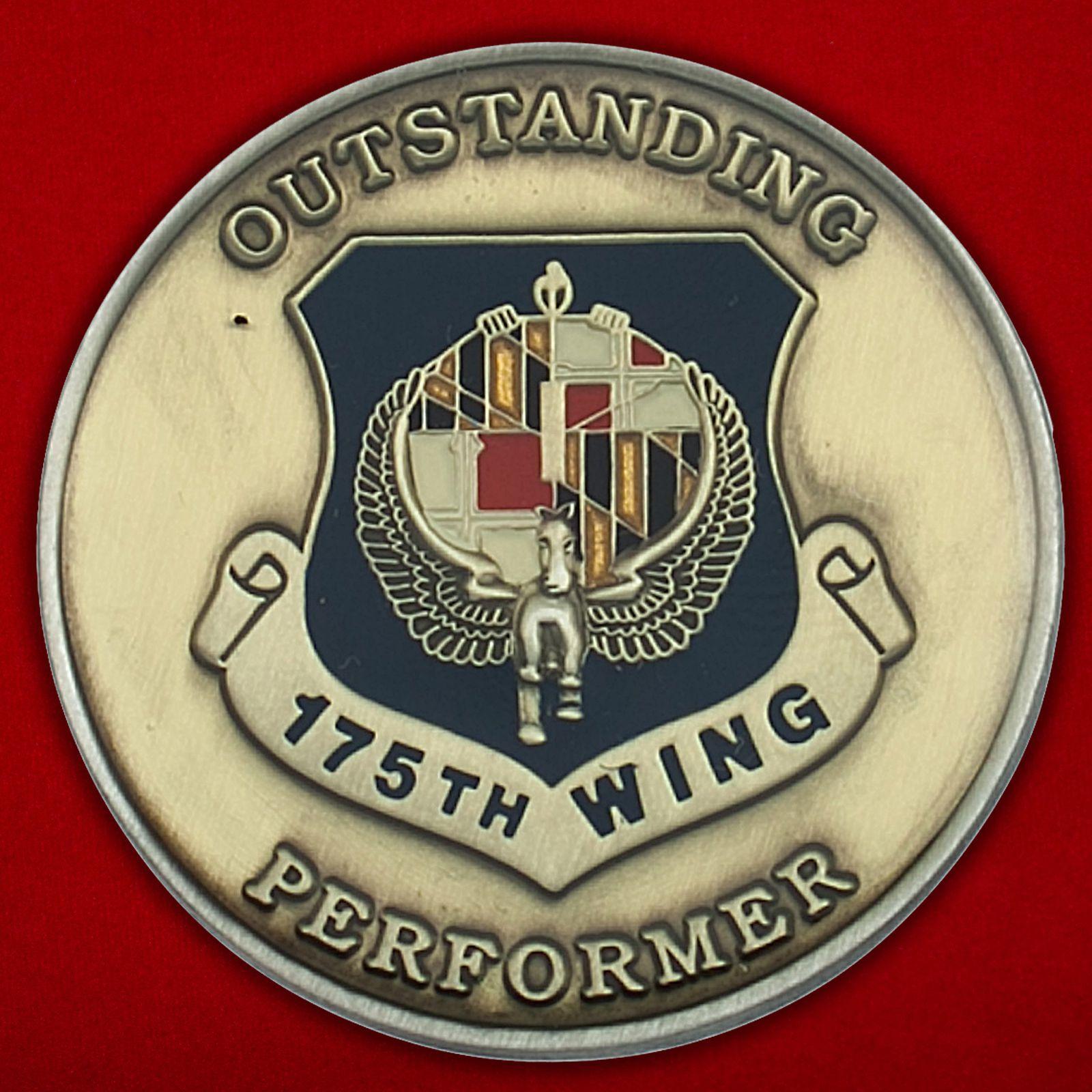 Челлендж коин 175-го авиакрыла ВВС США