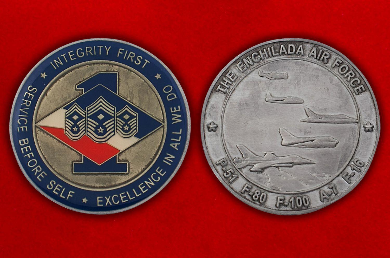 Челлендж коин 188-й эскадрильи ВВС Нацгвардии США (штат Нью-Мексико) - аверс и реверс