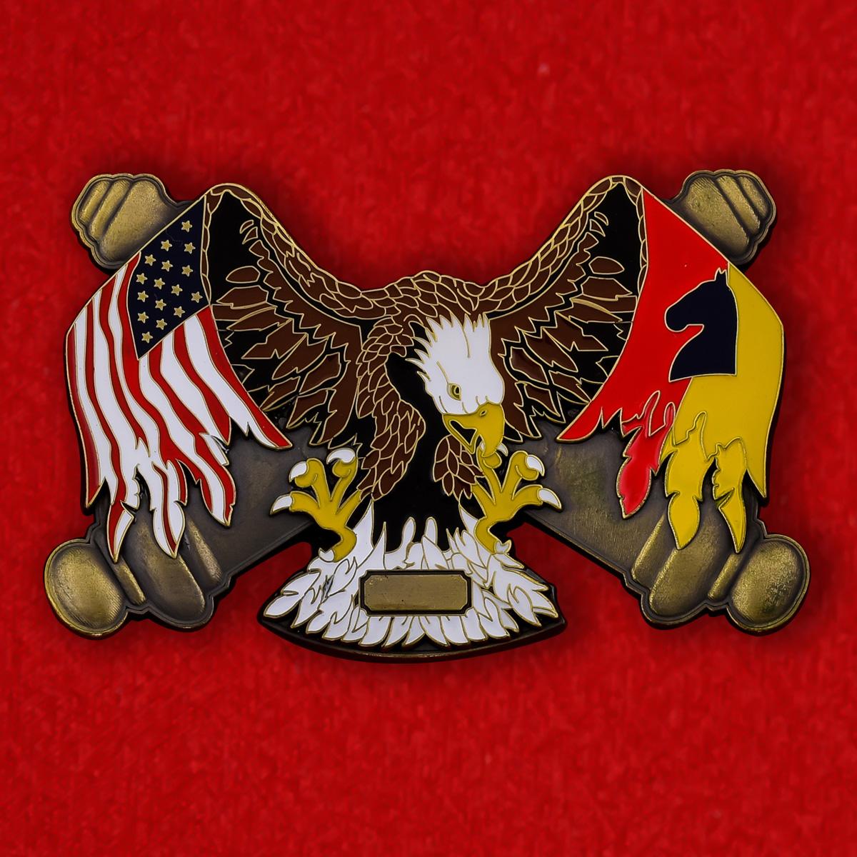 Челлендж коин 2-го батальона 138-й Бригады полевой артиллерии армии США