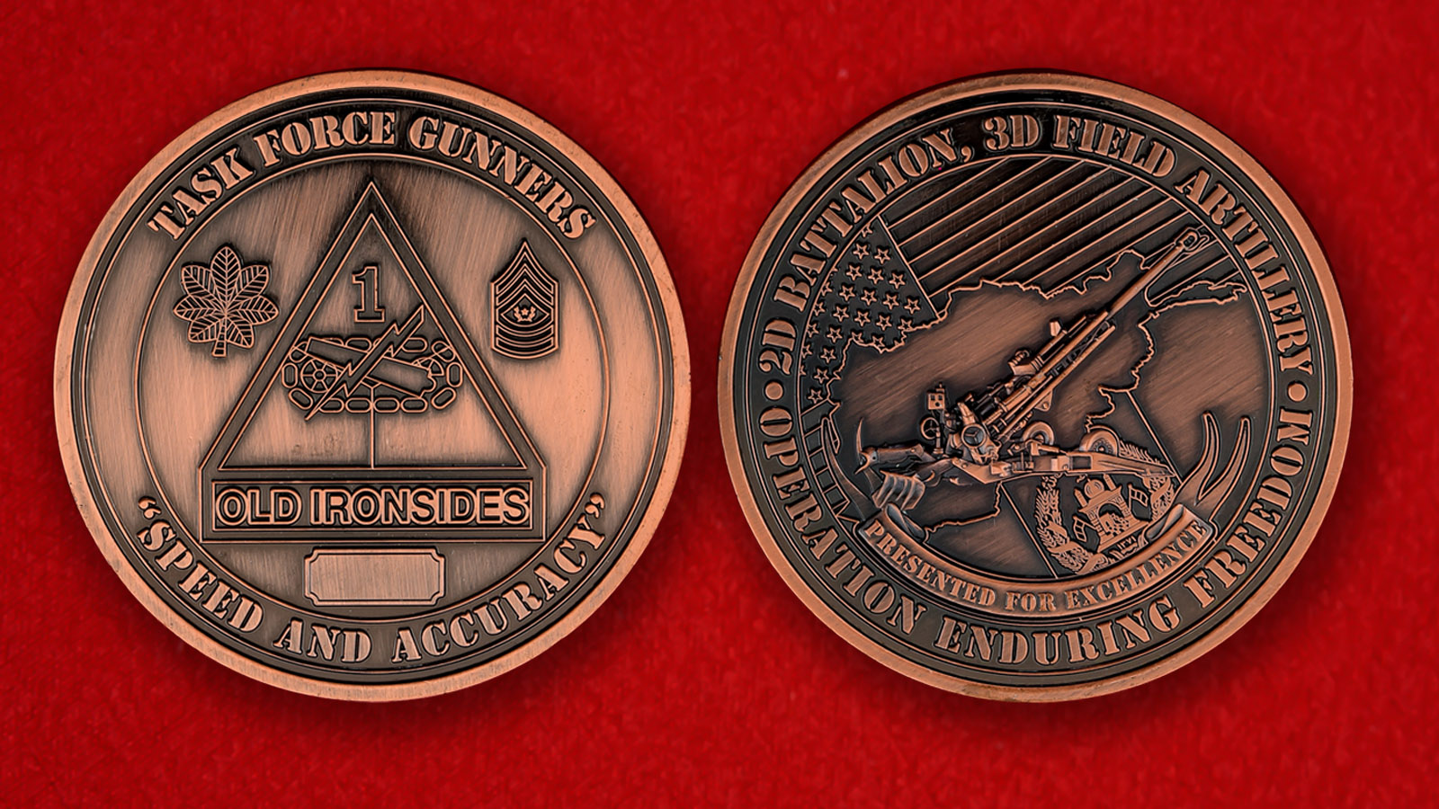 Челлендж коин 2-го батальона 3-го полка полевой артиллерии армии США