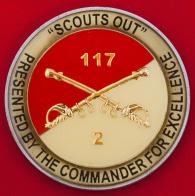 Челлендж коин 2-го батальона (танкового) 117-го учебного полка Национальной гвардии США