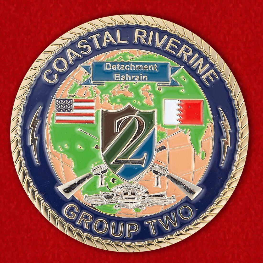 Челлендж коин 2-й Экспедиционной группы Береговой обороны ВМС США в Бахрейне