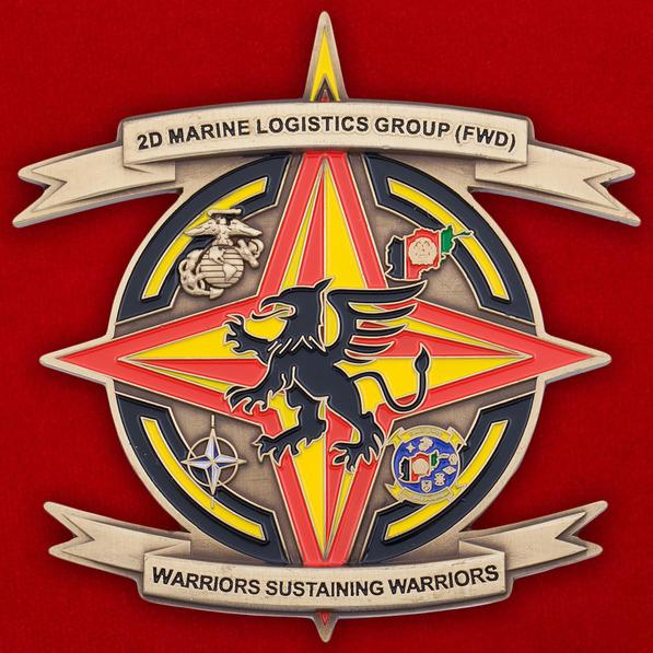Челлендж коин 2-й Группы Службы материально-технического обеспечения Корпуса Морской Пехоты США