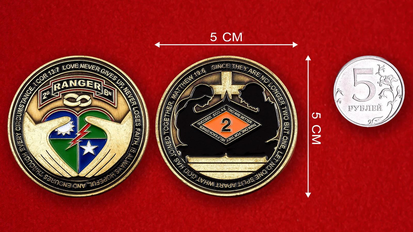 """Челлендж коин """"2-ой батальон рейнджеров"""""""