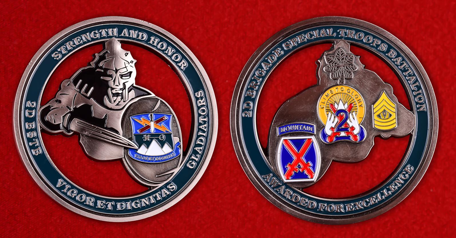 Челлендж коин 2-ой бригадной боевой группы 10 Горной дивизии США