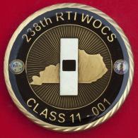 Челлендж коин 238-го регионального института по подготовке уоррент-офицеров Армии США