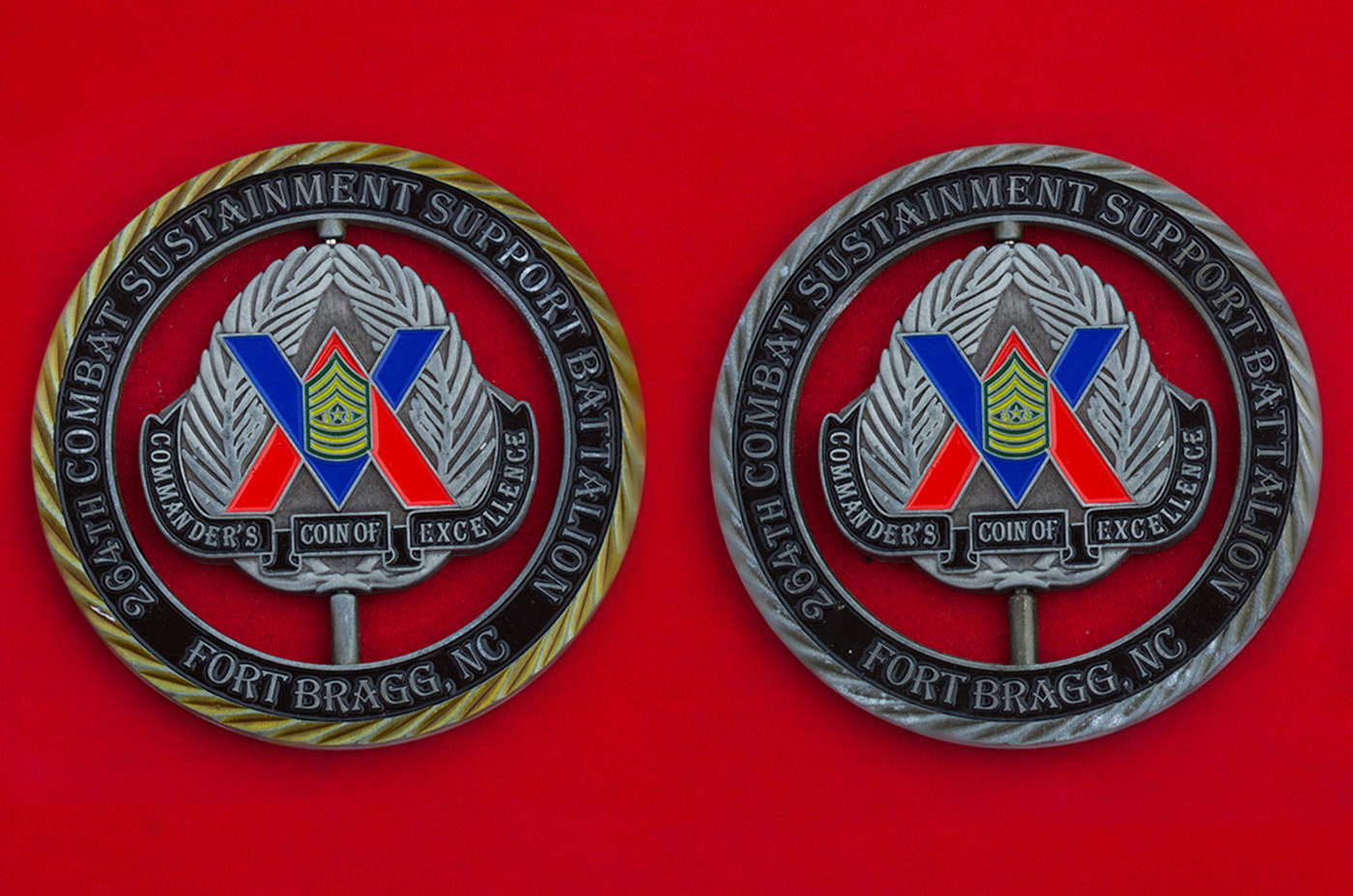 Челлендж коин 264-го батальона тылового обеспечения Армии США