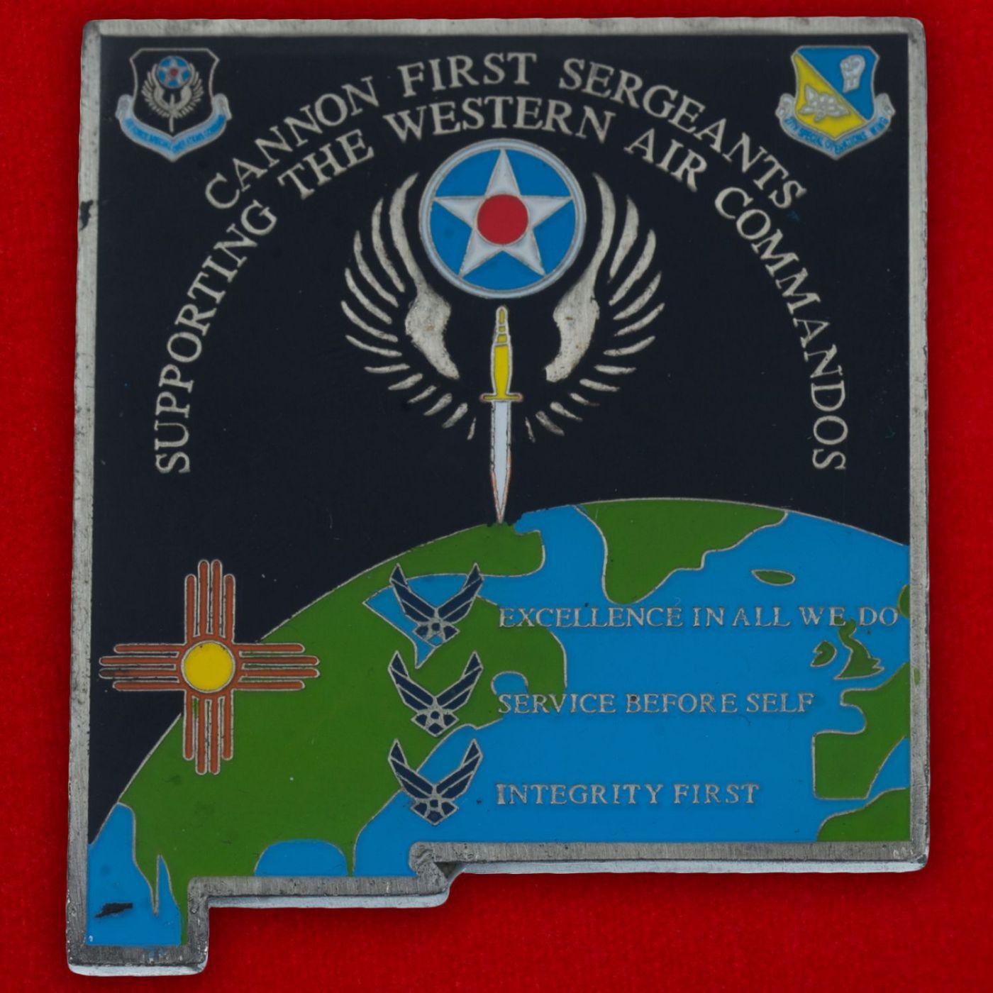 Челлендж коин 27-го авиакрыла Командования специальных операций ВВС США