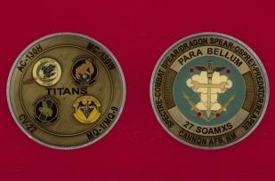 Челлендж коин 27-й эскадрильи технического обслуживания спецопераций ВВС США