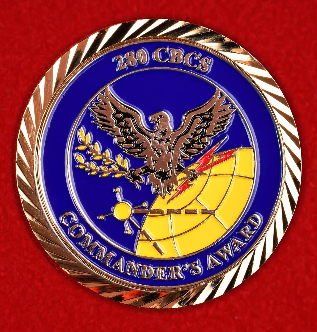 Челлендж коин «280 специальная рота связи ВВС Национальной гвардии США»
