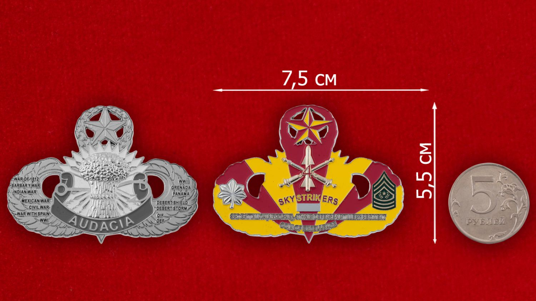 Челлендж коин 3-го батальона 4-го  полка ПВО - сравнительный размер
