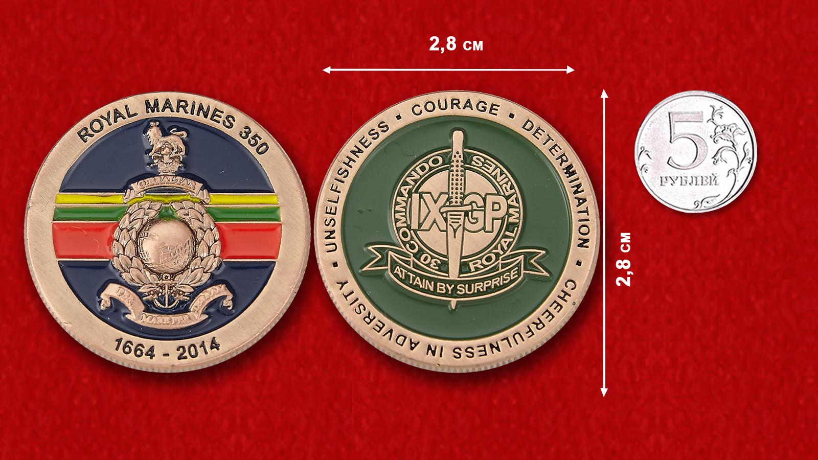 """Челлендж коин """"30-й отряд коммандос Морской пехоты Великобритании"""