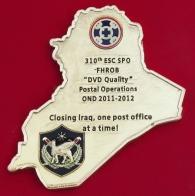 Челлендж коин 310-го экспедиционного соединения тылового и технического обеспечения Армии США за службу в Ираке