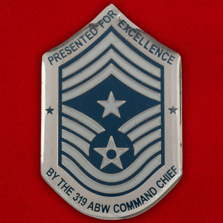 Челлендж коин 319-го авиакрыла дозаправщиков базы Гранд-Фокс ВВС США
