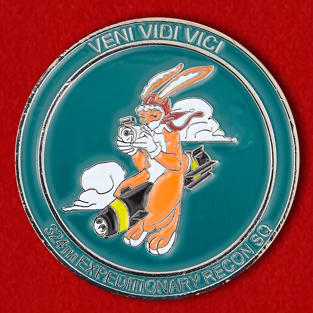 Челлендж коин 324-й экспедиционной разведывательной эскадрильи военно-морской авиабазы Сигонелла командования ВВС США в Европе