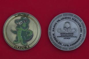 Челлендж коин 334-й учебной эскадрильи ВВС США, авиабаза Кислер