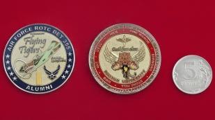 Челлендж коин 355-го отряда службы подготовки офицеров резерва ВВС США при Бостонском университете
