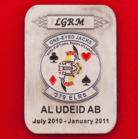 Челлендж коин 379-й эскдрильи тылового обеспечения ВВС США в память о службе на авиабазе Эль-Удейд, Катар