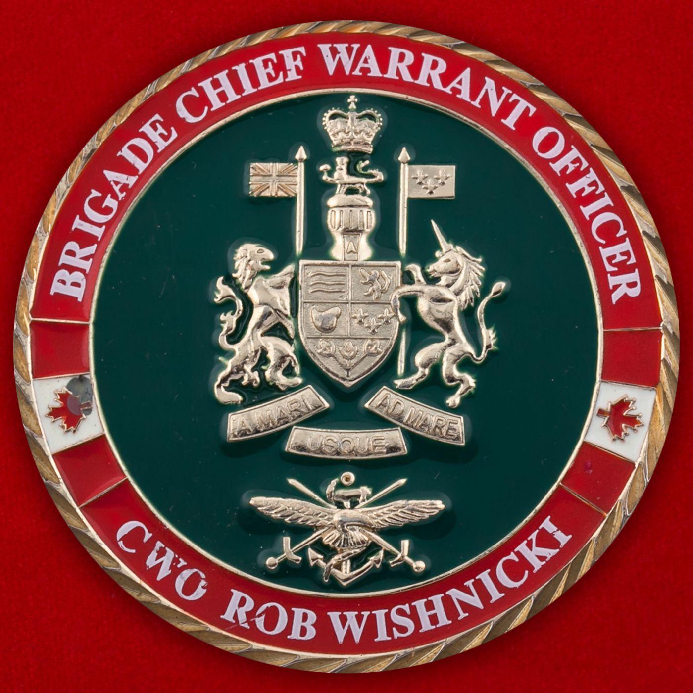 Челлендж коин 39-й Канадской бригады
