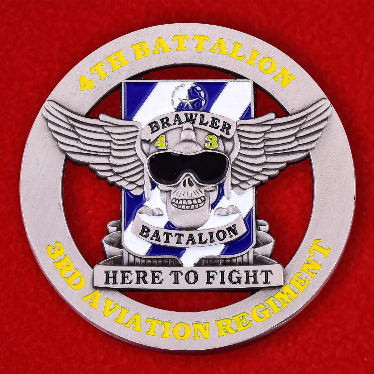Челлендж коин 4-го батальона 3-го Авиационного полка Армии США