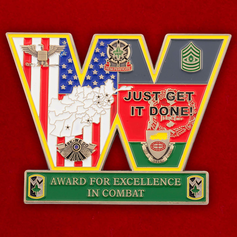 """Челлендж коин """"4-й бригаде материально-технического обеспечения за операцию Несокрушимая Свобода"""""""
