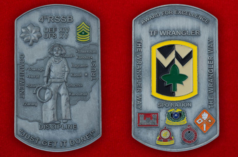 Челлендж коин 4-й Бригады материально-технического обеспечения Армии США - аверс и реверс