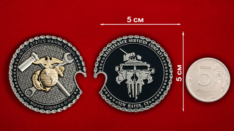Челлендж коин 4-й Группы материально-технического обеспечения Корпуса Морской пехоты США - оборотная сторона