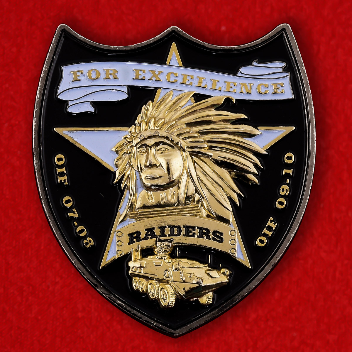 """Челлендж коин """"4-я Бригадная тактическая группа 2-й Пехотной дивизии армии США"""""""