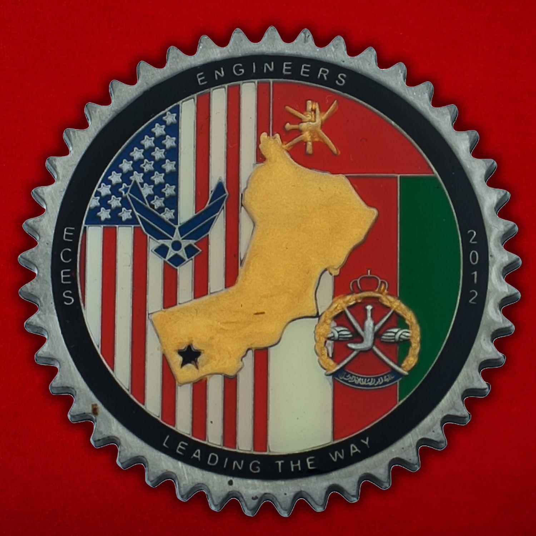 Челлендж коин 405-й Экспедиционной Инженерно-строительной эскадрильи ВВС США