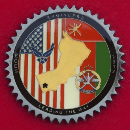 Челлендж коин 405-й экспедиционной инженерной эскадрильи ВВС США в память о службе на базе Тумраит, Оман