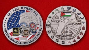 407TH Air Expeditionary Group Challenge Coin - obverse and reverse