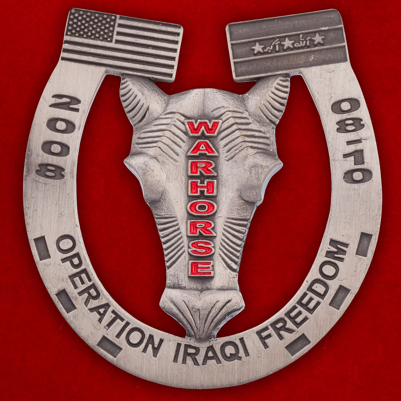 """Челлендж коин """"407-му батальону специалистов по работе с гражданским населением ВДВ США за операцию Иракская свобода"""""""